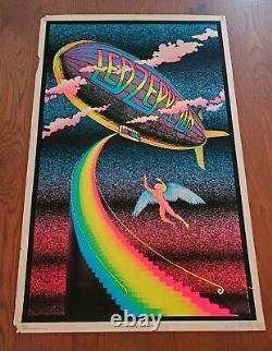 Led Zeppelin Stairway to Heaven 1982 Funky Enterprises Black Light Poster 35x23