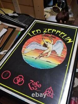 Led Zeppelin Vintage SWAN SONG Felt Blacklight poster #846