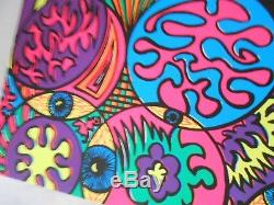 Lot of 100 Vintage Blacklight Posters Psychedelic Monster Hand Eye Fish Eyeballs
