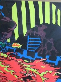 Lucifer Rege Rising SATANAS Satan Black Light Poster 1970 Large Inv#G2736A