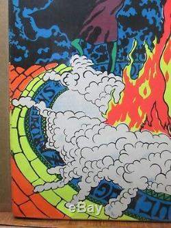 Lucifer Rege Rising SATANAS Satan Black Light Poster 1970 Large Inv#G2736