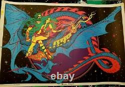 MAGIC DRAGON 1971 VINTAGE PSYCHEDELIC POSTER By STAR CITY -NICE! 28x38