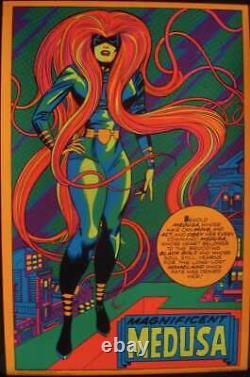 MEDUSA MARVEL THIRD EYE Black light poster TE4013 JACK KIRBY