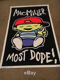 Mac Miler MOST DOPE Blacklight Poster rare 24x36