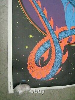 Magic Dragon 1971 black light poster vintage psychedelic myth C201