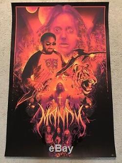 Mandy Nicolas Cage Print Movie Poster Mondo Vance Kelly Black Foil Blacklight