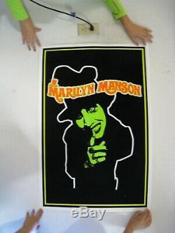 Marilyn Manson Poster Top Hat Green Face Blacklight