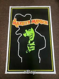 Marilyn Manson RARE 1996 flocked blacklight poster
