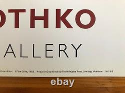Mark Rothko,'light Red Over Black 1957', Authentic 1993 Tate Gallery Art Print