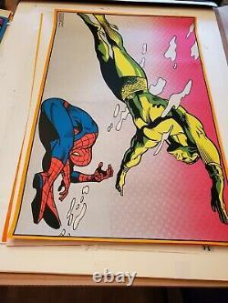 Marvel 1971 The Third Eye # 4023 SPIDERMAN AND NAMOR Vintage Black Light Poster