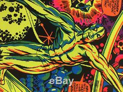 Marvel 1971 Third Eye #4005 SILVER SURFER Black Light Poster Great Condition