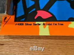 Marvel 1971 Third Eye SILVER SURFER Black Light Poster Gorgeous