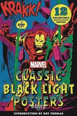 Marvel Classic Black Light Collectible Poster Portfolio (abrams Comicarts) 82721