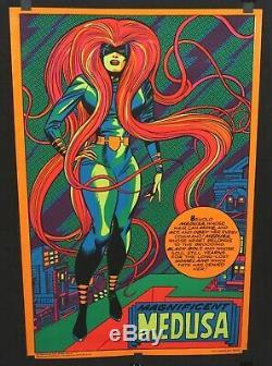 Marvel Super Heroes 1971 Third Eye Blacklight Poster #4013 Medusa Inhumans C9+