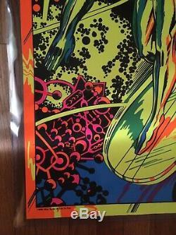 Marvel Third Eye Blacklight Poster Silver Surfer At Last Im Free 1971 4005