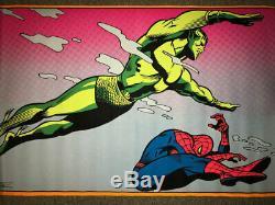 Marvel/Third Eye True Vintage Spiderman/Namor Blacklight Poster 1971