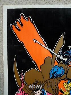 Marvel's X-Men Black Light Poster 1997 Funky Enterprises Wolverine Vintage Rare