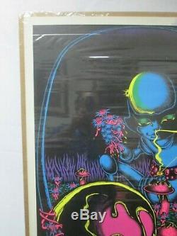 Moon Flower Black Light Psychedelic Vintage Poster Garage 1971 Petagno Cng425