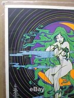 Moon Love Vintage Black Light Poster Psychedelic 1971 In#G3537