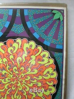 Mosaic Sun Black Light Vintage Poster 1968 Psychedelic Cng159