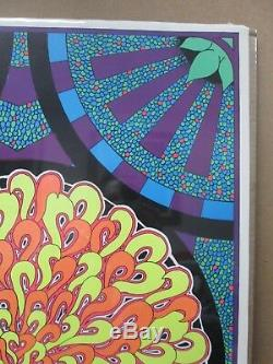 Mosaic Sun Vintage Black Light Poster 1968 Psychedelic Inv#G2140
