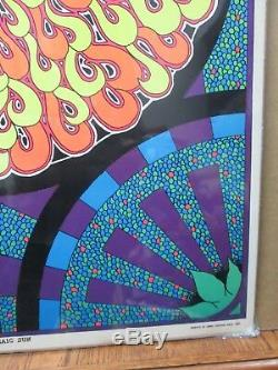 Mosaic Sun Vintage Black Light Poster 1968 Psychedelic Inv#G2141