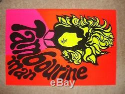 Mr. Tambourine Man BOB DYLAN Vintage Blacklight Poster Original full sized 1969