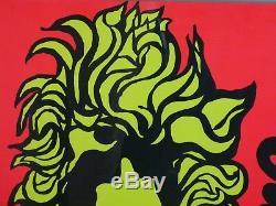 Mr. Tambourine Man Vintage Blacklight Poster Bob Dylan Original Pin-up 1960's