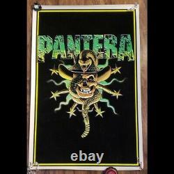 NOS 1996 PANTERA SNAKE Black Light Poster New Never Hung