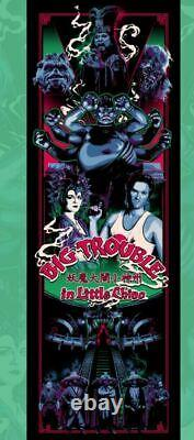 NYCC 2020 Big Trouble In Little China Blacklight Poster Screen Print 12x36 Mondo