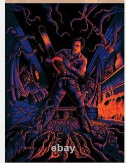 NYCC 2020 The Evil Dead Ash Chainsaw Blacklight Poster Screen Print 18x24 Mondo