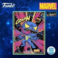 New! Funko Exclusive Marvel Venom (black Light) Poster