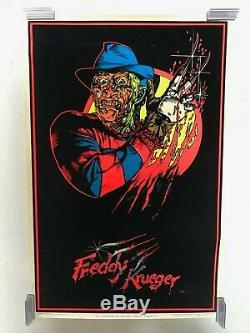 Nightmare On Elm St/Freddy Krueger 824 Vintage NOS Blacklight Poster Original 84
