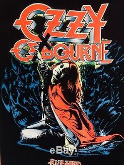 ORIGINAL 1984 Ozzy Osbourne Blizzard of Ozz Black Light Poster Funky 966