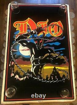 ORIGINAL N. O. S. 1984 black light poster DIO Holy Diver 809 Funky UV heavy metal