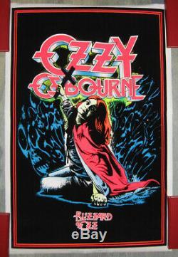 ORIGINAL N. O. S. 1984 black light poster OZZY OSBOURNE Blizzard Of Ozz Funky 966