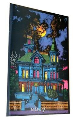 Ominous Mansion / Haunted Mansion Western Graphics Vintage Blacklight Poster
