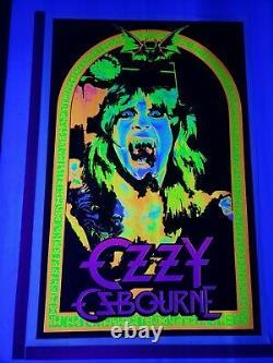 Original 2008 Ozzy Osbourne #1877 Blacklight Poster 23x 35 Scorpio RARE