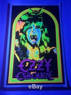 Original 2008 Ozzy Osbourne Blacklight Poster 23x35 Scorpio RARE