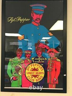Original Beatles Sgt. Pepper Blacklight Poster 1969
