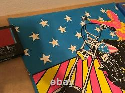 Original Blacklight Vintage Poster Easy Rider USA Psychedelic Peter Fonda 70s