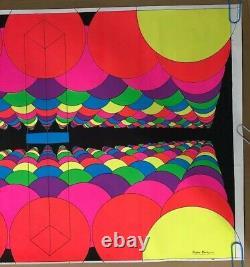 Original Vintage Back Light Poster Psychedelic Balloons Trippy 1969