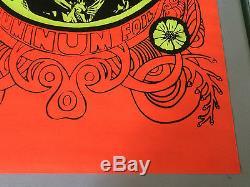 Original Vintage Black Light Poster Jimi Hendrix Katz Like Chewing Aluminum Foil