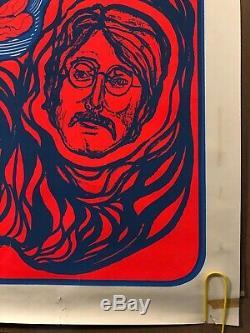 Original Vintage Black Light Poster The Beatles Dan Shupe Music Memorabilia