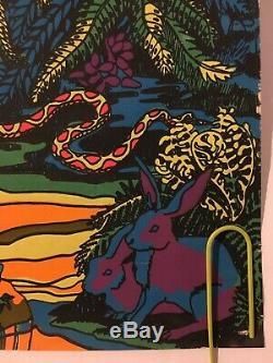 Original Vintage Blacklight Poster 1971 Noah And The Ark 70s Third Eye Retro Art