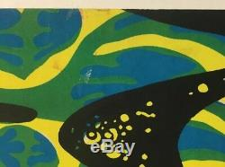 Original Vintage Blacklight Poster 2000 Light Years 1970 Pin-up Velvet Retro 70s