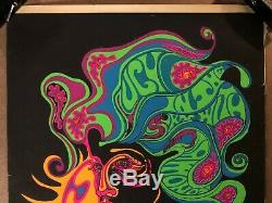 Original Vintage Blacklight Poster Lucy in the Sky with Diamonds The Beatles