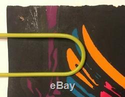 Original Vintage Blacklight Poster Midnight Owls 1969 Pin-up Third Eye Inc 60's