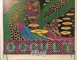 Original Vintage Blacklight Poster Occult 1970 Vincent Napoli 70s Psychedelic