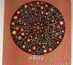 Original Vintage Blacklight Poster Psychedelic Posters 1960s Black Lite Dayglow